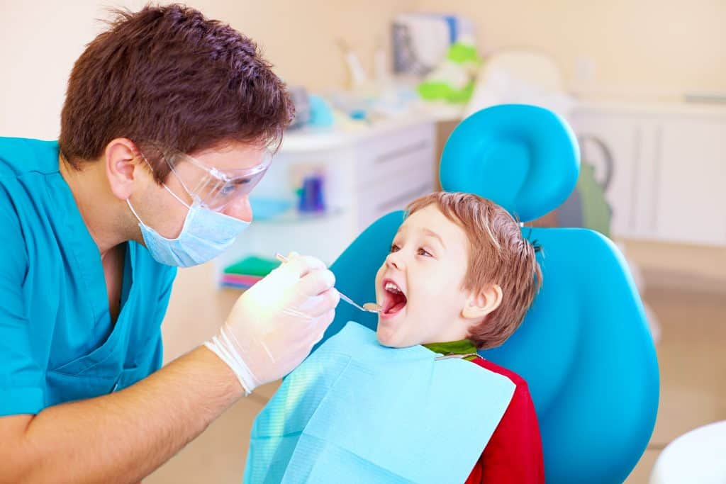a child visiting the dentist