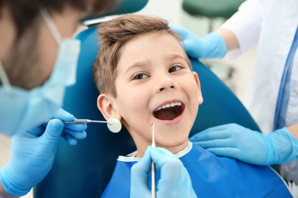 a kids appointment addressing a dental problem